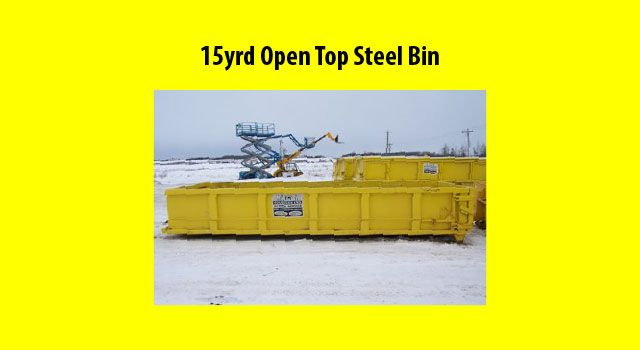 15 Yrd Open Top Steel Bin